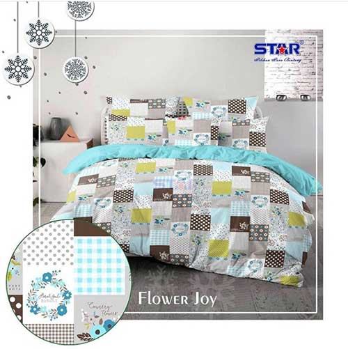 sprei-star-flower-joy-biru
