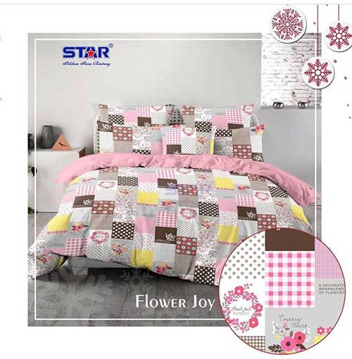 sprei-star-flower-joy-pink