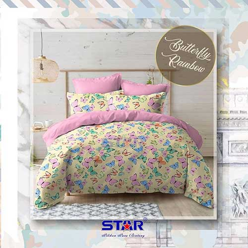 sprei-star-butterfly-rainbow-cream