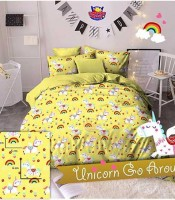 sprei-star-unicorn-go-around-kuning