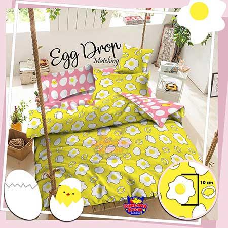 sprei-star-egg-drop-kuning
